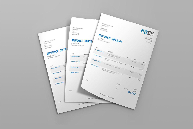 Blankai, sąskaitos faktūros